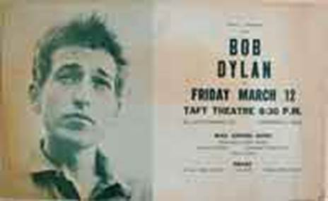Beskrivning: Beskrivning: Beskrivning: Bob Dylan Taft Theater Concert Poster